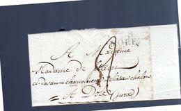1806 MOREZ Claude Jobely To Mme Charlotte-Anne-Sophie-Désirée Stain Château Chalon à Dôle (EO1-144) - France