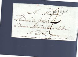 189 MOREZ Claude Jobely To Mme Charlotte-Anne-Sophie-Désirée Stain Château Chalon à Dôle (EO1-145) - France