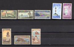 1947-63   Nouvelle-Zélande, Les Phares, SE 107 / 113**, Cote 42 €, - Phares