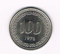 )  ZUID KOREA 100 WON 1978 - Corée Du Sud