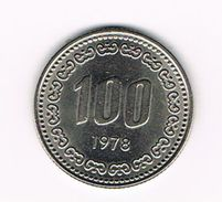 )  ZUID KOREA 100 WON 1978 - Korea, South