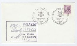 1972 Firenze WINE BOTTLE, GASTRONOMIC EVENT COVER Italy Stamps Drink Food Alcohol - Wines & Alcohols