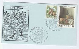 1987 POLLUTRI  WINE EVENT COVER Italy Stamps Drink  Alcohol - Wines & Alcohols