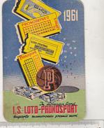 Romanian Small Calendar - 1961 - Lottery - Loto-pronosport - Calendriers