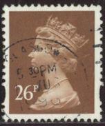 GB 1996 Yv. N°1877 - 26p Brun - Oblitéré - Machin-Ausgaben