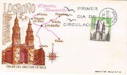 Spanien FDC 1828 Kirche Santa María De La Redonda, Logroño - Architektur - FDC