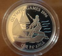"TONGA 1 PAANGA 1992 SILVER PROOF ""OLYMPIC GAMES 1996"" (free Shipping Via Registered Air Mail) - Tonga"