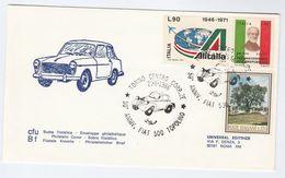 1986 Torino FIAT 500 TOPOLINO 50th Anniv EVENT COVER Stamps Car Cars Italy - Cars