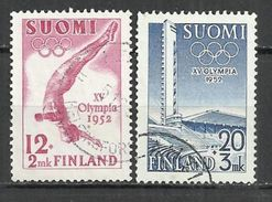 FINLAND 1951 - OLYMPIC GAMES - CPL. SET - USED OBLITERE GESTEMPELT USADO - Ete 1952: Helsinki