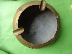 Cendrier Cuivre Marine (3 Ancres) Poids 377g - Militaria