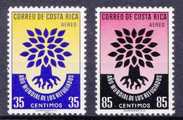 COSTA RICA   - 1960 - Mi. N°556 En 557 - Int.jaardag V.d Vluchtelingen -  Ongestempeld/neuf/new/ungebraucht - *(plakker) - Costa Rica