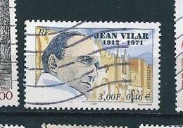 N° 3398 30éme Anniversaire De La Mort De Jean Vilar  Timbre  France Oblitéré 2001 - Usati