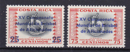 COSTA RICA   - 1961 - Mi. N°581 En 582 - 15e Wereld Kampioenschap Base Ball -  Ongestempeld/neuf/new/ungebraucht - ** - Costa Rica