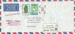 Iraq 1969 Al-Masarif Literacy Costume Relief Flood Victims Registered Censored Cover - Irak