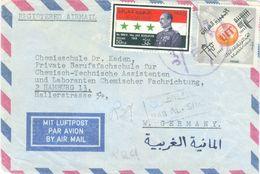 Iraq 1966 Baghdad ITU Communication President Abdul Salam Mohammed Registered Censored Cover - Irak