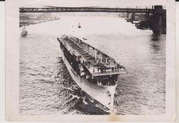 LANGLEY PORTE AVIONS   18* 12.50 Cm WARSHIP BATTLESHIP Kriegsschiff BATEAU DE GUERRE - Barcos
