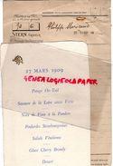 75 - PARIS- BON DE COMMANDE CARTE MENU 27 MARS 1909- PHILIPPE MORICAND- CHEZ STERN GRAVEUR -47 PASSAGE PANORAMAS - Historical Documents