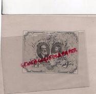 75 - PARIS-  CARTON GRAVURE- STERN GRAVEUR -47 PASSAGE PANORAMAS-MENUET - Historical Documents