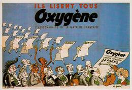 Thematiques Reproduction Affiche Ils Lisent Tous Oxygene Affiche De Sennep Et Gassier - Advertising