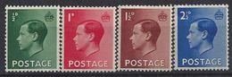 GB 1936 KE VIII (*) MH SG.457-460. Mi.193x-196x - 1902-1951 (Kings)