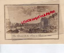 75 - PARIS - BEAU CARTON SOCIETE GENERALE MEILLEURS VOEUX NOUVEL AN DECEMBRE 1950-GRAVURE QUAIS SEINE 1782- STERN - Historical Documents