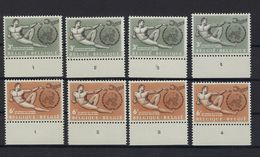 N°1231/1232 (plaatnummer Set) MNH ** POSTFRIS ZONDER SCHARNIER SUPERBE - Plattennummern