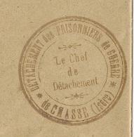 CHASSE ISERE DETACHEMENT DES PRISONNIERS DE GUERRE. Convoyeur LYON A GAP. 1917 - Storia Postale