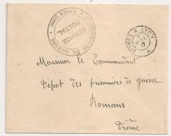 Ambulant VEYNES A LYON A, RIVES Isère, PRISONNIERS DE GUERRE. - Storia Postale