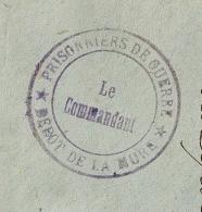 Dépot De La MURE Isère, PRISONNIERS DE GUERRE. LE COMMANDANT. - Storia Postale