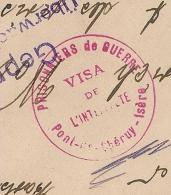 PONT DE CHERUY Isère. VISA De  L'INTERPRETE.  PRISONNIERS DE GUERRE. Origine MUHLEIM. - Storia Postale