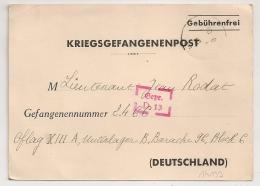 Carte Repiquée KRIEGSGEFANGENENPOST  Pour OFLAG XIII A. Censeur D 13. - Storia Postale