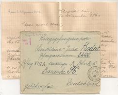 Lettre NANTES Loire Inférieure Pour  OFLAG XIII A. Censeur D 22. - Storia Postale