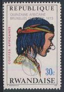 Ruanda Rwanda 1973 Mi 588 A YT 546 + Optd ** Chad Woman – African Hairdresses / Tschad  Haartracht - Costumes