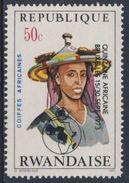 Ruanda Rwanda 1973 Mi 589 A YT 547 + Optd ** Bororo Man, Niger – African Hairdresses / Niger Haartracht - Costumes