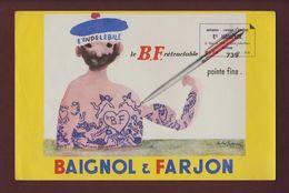 BUVARD - BAIGNOL & FARJON - Librairie Ets HOMEYER à EPINAL. 88  - 2 Scannes. - Papeterie