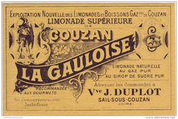 """Etiquette: Limonade Supérieure De Couzan. """" LA GAULOISE """" - Sail Sous Couzan. Loire - Labels"""