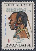 Ruanda Rwanda 1973 Mi 590 A YT 548 + Optd ** Masai Man, Kenya – African Hairdresses / Kenia Haartracht - Costumes