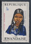 Ruanda Rwanda 1973 Mi 591 A YT 549 + Optd ** Air Girl, Niger – African Hairdresses / Niger Haartracht - Kostums