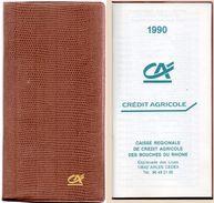 Petit Agenda - Calendrier Du Crédit Agricole 1990 (100407) - Calendriers