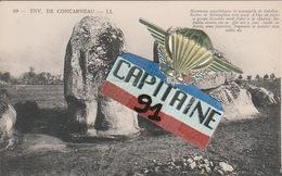 CPA ENVIRONS DE CONCARNEAU MONUMENTS MEGALITHIQUES DE LA PRESQU ILE DU CABELLOU .ROCHERS DEKERMINGHAM COTE OUEST - Concarneau