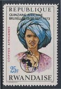 Ruanda Rwanda 1973 Mi 593 A YT 551 + Optd ** Mauritania Man – African Hairdresses / Mauretanien Haartracht - Costumes