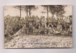 CARTE PHOTO MILITAIRE CAMP DE SOUGE 1927 - - Personajes