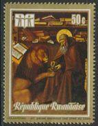 """Ruanda Rwanda 1973 Mi 551 A ** """"St. Jerome Removing Thorn From Lion's Paw"""" By Colantonio - 1970-79: Ongebruikt"""
