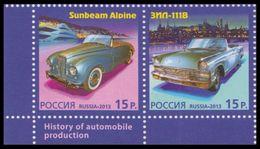 RUSSIA 2013 Stamp MNH ** VF Joint MONACO CAR ZIL SUNBEAM ALPINE GRACE KELLY CINEMA ART GAGARIN SPACE TRANSPORT 1768-69 - Cars