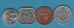 LOT 4 COINS INDONESIA - POLAND - BOSNIA HERZ. - SRI LANKA - Monedas & Billetes