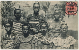 Togo Haarfrisuren  Coiffures Non Voyagé Timbre Angalis Surchargé Togo Anglo French 1917 - Togo