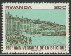 Ruanda Rwanda 1980 Mi 1077 ** Belgian Independence War / Unabhängigkeit Belgiens / Onafhankelijkheidsoorlog - 1980-89: Ongebruikt