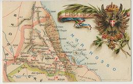 Eritrea Map Pionneer Card Carte Geographique  Sudan Tigré Dahlak Litho - Erythrée