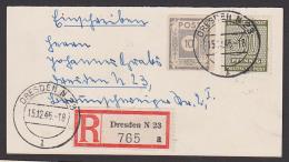 Dresden R-Mini-Karte, 30Pf Westsachsen Ziffer Und 10 Pf Ostsachsen - Sowjetische Zone (SBZ)