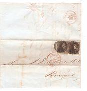 TP 1(2) S/LAC Obl.P.4 C.Anvers 4/3/1850 V.Bruges C.d'arrivée PR4758 - Postmark Collection